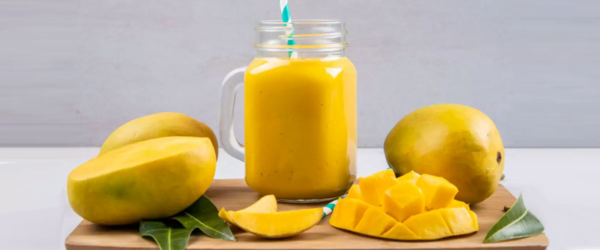 smoothie de mango fresco